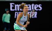 Katerina Siniakova of the Czech Republic in action during her first round match at the 2020 Australian Open, WTA Grand Slam tennis tournament on January 20, 2020 at Melbourne Park in Melbourne, Australia - Photo Rob Prange / Spain ProSportsImages / DPPI / ProSportsImages / DPPI