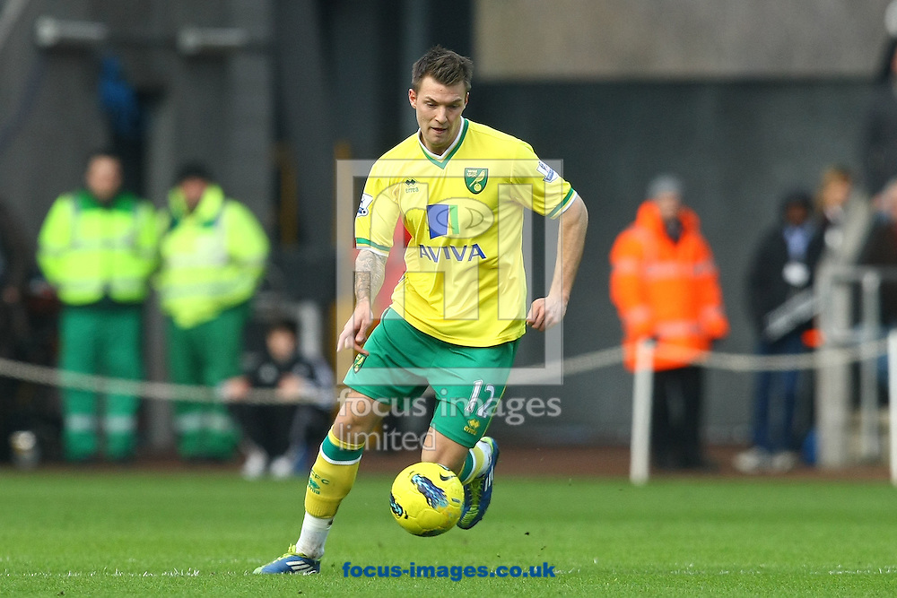 Picture by Paul Chesterton/Focus Images Ltd.  07904 640267.11/02/12.Anthony Pilkington of Norwich in action during the Barclays Premier League match at Liberty Stadium, Swansea.