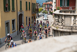 Peloton weave through towns lining Lake Maggiore at the final stage of the Giro Rosa 2016 on 10th July 2016. A 104km road race starting and finishing in Verbania, Italy.