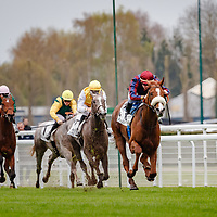 Dice Roll (C. Demuro) wins Prix Djebel Gr.3 in Deauville, France 09/04/2018, photo: Zuzanna Lupa