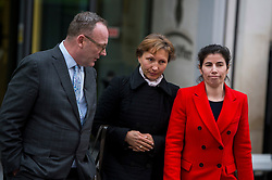 "©  London News Pictures. 28/01/2016. London, UK. MARINA LITVINENKO, wife of murdered Russian agent Alexander Litvinenko, leaving The Home Office in London with her representatives following private talks with British home secretary Theresa May. The meeting comes a week after an official inquiry into her husband's death concluded that his killing was ""probably approved"" by Russian president Vladimir Putin. Photo credit: Ben Cawthra/LNP"
