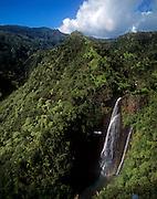 Helicopter, Manawainui Falls, Kauai, Hawaii