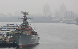Army ship in Moscow, on November 13, 2009, Moscow, Russia.  (Photo by Vid Ponikvar / Sportida)