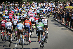 July 14, 2018 - Sarzeau, FRANCE - Illustration picture shows the pack of riders the fourth stage of the 105th edition of the Tour de France cycling race, from La Baule to Sarzeau (195km), in France, Tuesday 10 July 2018. This year's Tour de France takes place from July 7th to July 29th. BELGA PHOTO YUZURU SUNADA - FRANCE OUT (Credit Image: © Yuzuru Sunada/Belga via ZUMA Press)