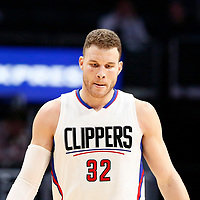 25 March 2016: LA Clippers forward Blake Griffin (32) is seen during the Los Angeles Clippers 108-95 victory over the Utah Jazz, at the Staples Center, Los Angeles, California, USA.