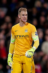 Joe Hart of Manchester City looks dejected after Glenn Murray of Crystal Palace (not pictured) scores a goal to make it 1-0 - Photo mandatory by-line: Rogan Thomson/JMP - 07966 386802 - 06/04/2015 - SPORT - FOOTBALL - London, England - Selhurst Park - Crystal Palace v Manchester City - Barclays Premier League.