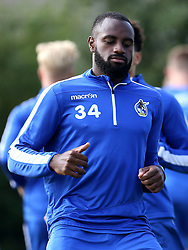Hiram Boateng of Bristol Rovers warms up for training - Mandatory by-line: Robbie Stephenson/JMP - 15/09/2016 - FOOTBALL - The Lawns Training Ground - Bristol, England - Bristol Rovers Training