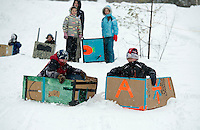 Gilford Parks and Recreation annual Cardboard Derby at the Outing Club Wednesday, February 27, 2013.  Karen Bobotas/for the Laconia Daily Sun