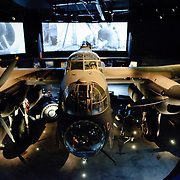 A Lancaster Bomber on display at the Australian War Memorial in Canberra, ACT, Australia
