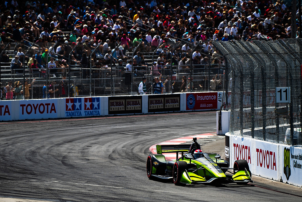Charlie Kimball, Carlin Chevrolet<br /> Friday 13 April 2018<br /> Toyota Grand Prix of Long Beach<br /> Verizon IndyCar Series<br /> Streets of Long Beach, California USA<br /> World Copyright: Scott R LePage<br /> LAT Images