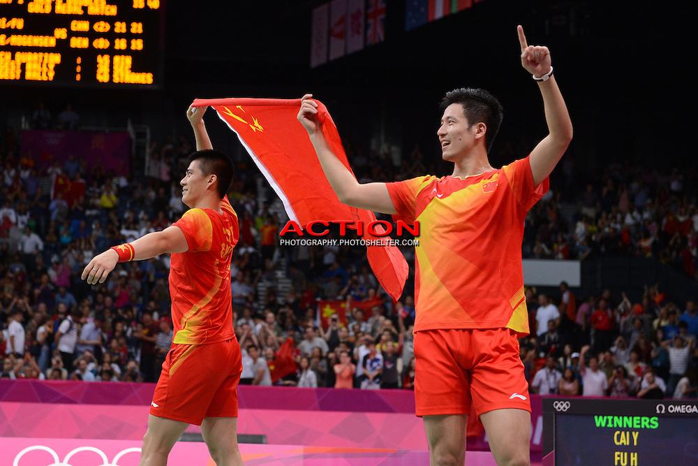 Cai and Fu, China, Gold, Mens Doubles Final, Badminton London Wembley 2012