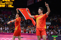 Cai and Fu, China, Gold, Mens Doubles Final, Badminton London Wembley 2012
