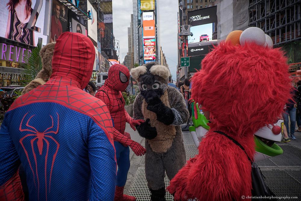 Costumed caracters, New York.