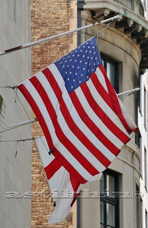 Flags of England and USA