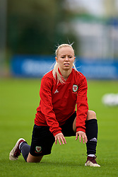 NEWPORT, WALES - Tuesday, August 28, 2018: Wales' Nadia Lawrence during a training session at Dragon Park ahead of the final FIFA Women's World Cup 2019 Qualifying Round Group 1 match against England. (Pic by David Rawcliffe/Propaganda)