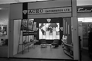 09/05/1964<br /> 05/09/1964<br /> 09 May 1964<br /> ACEC (Ateliers de Constructions Electriques de Charleroi)  electric motors stand at the R.D.S. Spring Show. ACEC was a Belgian manufacturer of electrical motors and other industrial equipment.