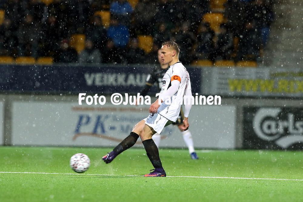 5.4.2017, OmaSP Stadion, Sein&auml;joki.<br /> Veikkausliiga 2017.<br /> Sein&auml;joen Jalkapallokerho - FC Lahti.<br /> Mikko Hauhia - FC Lahti