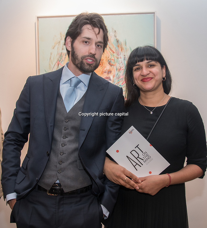 Rob Phoenix is an actor attend the Art On The Mind - Private view of an exhibition and auction which benefits homeless charity, Cardboard Citizens.