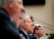 June 15, 2010 - Washington, District of Columbia, U.S., - Rex Tillerson, chairman and CEO of ExxonMobil; John Watson, chairman and CEO of Chevron Corporation; James Mulva, chairman and CEO of ConocoPhillips;  and Marvin Odum, president of Shell Oil Company; and Lamar McKay, president and chairman of BP America Inc.; testify before the House Energy and Commerce Committee on America's Energy Future on Tuesday.(Credit Image: © Pete Marovich/ZUMA Press)
