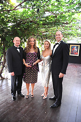 Left to right, AREK & SOPHIE MAZUR and SIMON & DANIELLE KAY at the annual Ham Polo Club Summer Ball held at the club, Petersham Road, Richmond, Surrey on 25th July 2008.<br /> <br /> NON EXCLUSIVE - WORLD RIGHTS