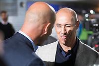 Fuenlabrada coach Antonio Calderon and Real Madrid coach Zinedine Zidane during Copa del Rey match between Fuenlabrada and Real Madrid at Fernando Torres Stadium in Madrid, Spain. October 26, 2017. (ALTERPHOTOS/Borja B.Hojas)