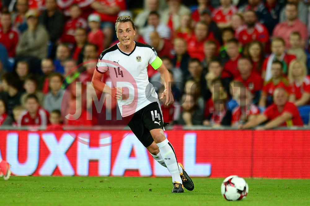 Julian Baumgartlinger of Austria - Mandatory by-line: Dougie Allward/JMP - 02/09/2017 - FOOTBALL - Cardiff City Stadium - Cardiff, Wales - Wales v Austria - FIFA World Cup Qualifier 2018