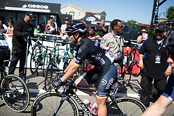 Rachele Barbieri (ITA) of Wiggle High5 Cycling Team rides to the start before Stage 1 of the Amgen Tour of California - a 124 km road race, starting and finishing in Elk Grove on May 17, 2018, in California, United States. (Photo by Balint Hamvas/Velofocus.com)