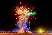 Man Burn Fireworks