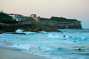 Bronte Beach catching the surf, Sydney, Australia.