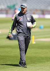 Pakistan head coach Mickey Arthur during the nets session at the Bristol County Ground.