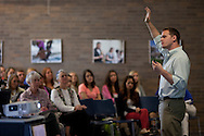 """Hudson Taylor asked Worcester State University students to, """"Treat others as to how they want to be treated."""""""