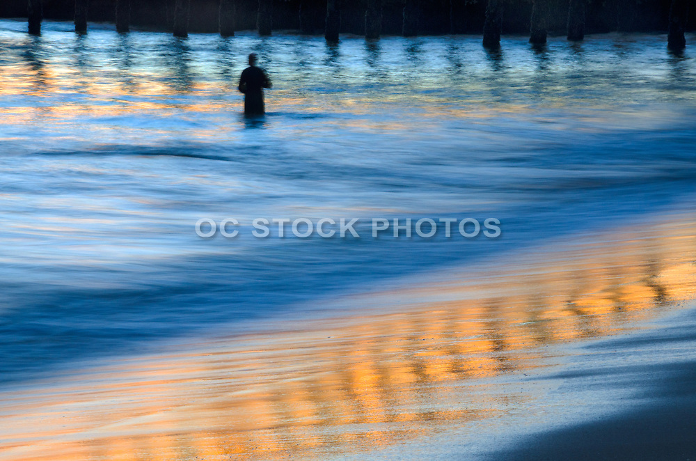 Ocean Reflection at Seal Beach Pier