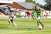 Forest Green Rovers Elliott Frear (11) runs towards goal  during the Vanarama National League match between Boreham Wood and Forest Green Rovers at Meadow Park, Boreham Wood, United Kingdom on 6 August 2016. Photo by Shane Healey.