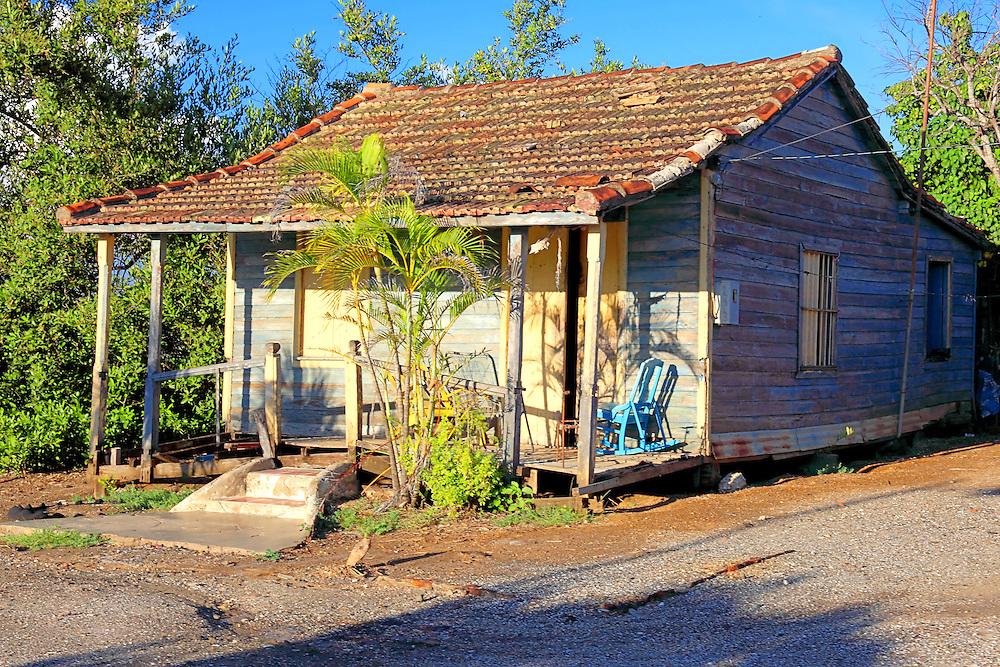 House in Santa Cruz del Sur, Camaguey, Cuba.