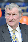 David Pleat during the Barclays Premier League match between Tottenham Hotspur and Crystal Palace at White Hart Lane, London, England on 20 September 2015. Photo by Alan Franklin.