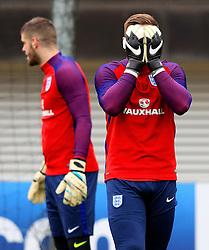 England's Jack Butland (R) - Mandatory byline: Matt McNulty/JMP - 22/03/2016 - FOOTBALL - St George's Park - Burton Upon Trent, England - Germany v England - International Friendly - England Training and Press Conference