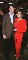 MR BILL COLLINS and his sister actress JOAN COLLINS at a party in London on 29th April 1999.MRO 73
