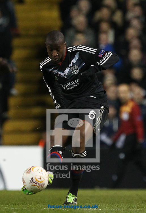 Picture by John  Rainford/Focus Images Ltd +44 7506 538356.14/02/2013.Gueida Fofana of Olympique Lyonnais during the UEFA Europa League match at White Hart Lane, London.