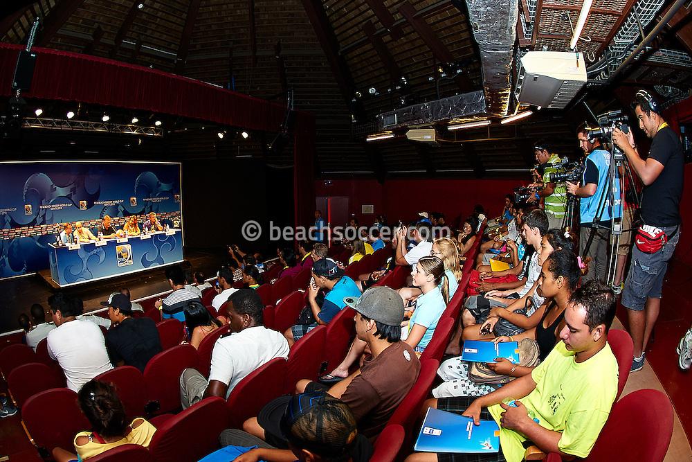 PAPEETE, TAHITI - OCTOBER 18:  FIFA Beach Soccer World Cup Tahiti 2013  at Stadium Tahua To´ata  on October 18, 2013 in Papeete, Tahiti. (Photo by Manuel Queimadelos)