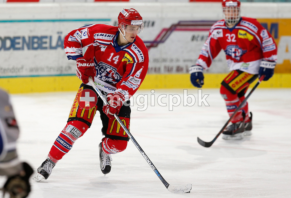 Rapperswil-Jona Lakers forward Timo Haussener is pictured during an Elite A Ranking Round 9-13 ice hockey game between Rapperswil-Jona Lakers and EHC Biel-Bienne Spirit held at the Diners Club Arena in Rapperswil, Switzerland, Sunday, Feb. 28, 2016. (Photo by Patrick B. Kraemer / MAGICPBK)