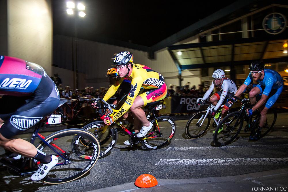 Ignazio Moser(Team Cinelli Chrome) during the men's race.<br /> Red Hook Criterium Brooklyn no.10<br /> Photo: Tornanti.cc