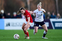 Charlie Wellings of Bristol City is challenged - Mandatory by-line: Ryan Hiscott/JMP - 19/01/2020 - FOOTBALL - Stoke Gifford Stadium - Bristol, England - Bristol City Women v Liverpool Women - Barclays FA Women's Super League