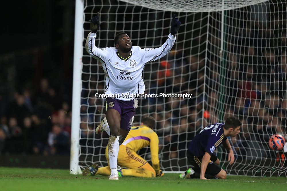 13 January 2015 - The FA Cup 3rd Round (Replay)  - West Ham v Everton - Romelu Lukaku of Everton celebrates scoring a goal to make it 1-2 - Photo: Marc Atkins / Offside.