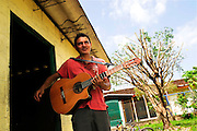William Guardardo, music teacher from the Music for Hope youth project, based in the Community of Nueva Esperanza, El Salvador.