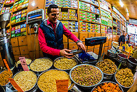 Interior of a spice shop, Downtown Amman, Jordan.