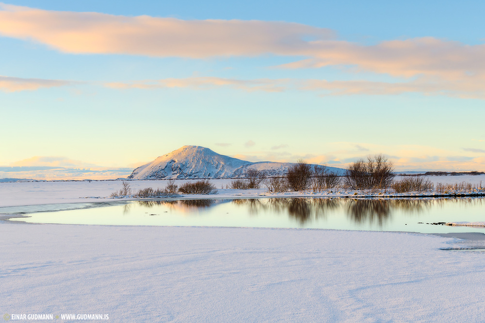 Lake Myvatn in January