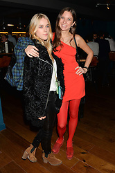 Left to right, LADY MARY CHARTERIS and ALICE BRINKLEY at the opening party of MODE nightclub, 12 Acklam Road, London on 4th April 2014.