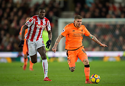 STOKE-ON-TRENT, ENGLAND - Wednesday, November 29, 2017: Liverpool's Emre Can reacts during the FA Premier League match between Stoke City and Liverpool at the Bet365 Stadium. (Pic by Peter Powell/Propaganda)