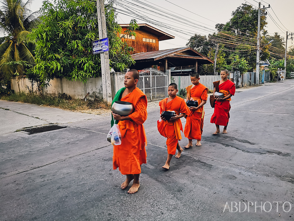monks in Mae Sot Thailand Tak Province