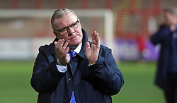 Peterborough United Manager Steve Evans acknowledges the supporters at full-time - Mandatory by-line: Joe Dent/JMP - 04/12/2018 - FOOTBALL - St James Park - Exeter, England - Exeter City v Peterborough United - Checkatrade Trophy